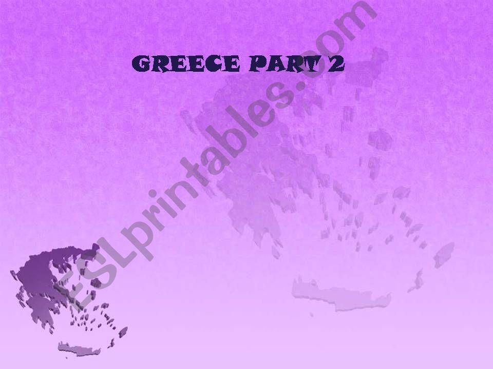 Greece, part 2 powerpoint