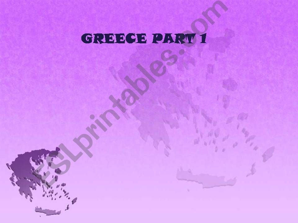 Greece, part 1 powerpoint