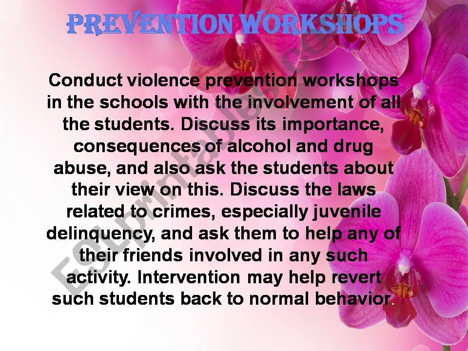 School violence (part 3)   how to reduce violence at schools  with Prevention workshops + conclusion