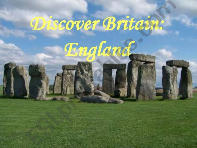 Discover England - part 1 powerpoint