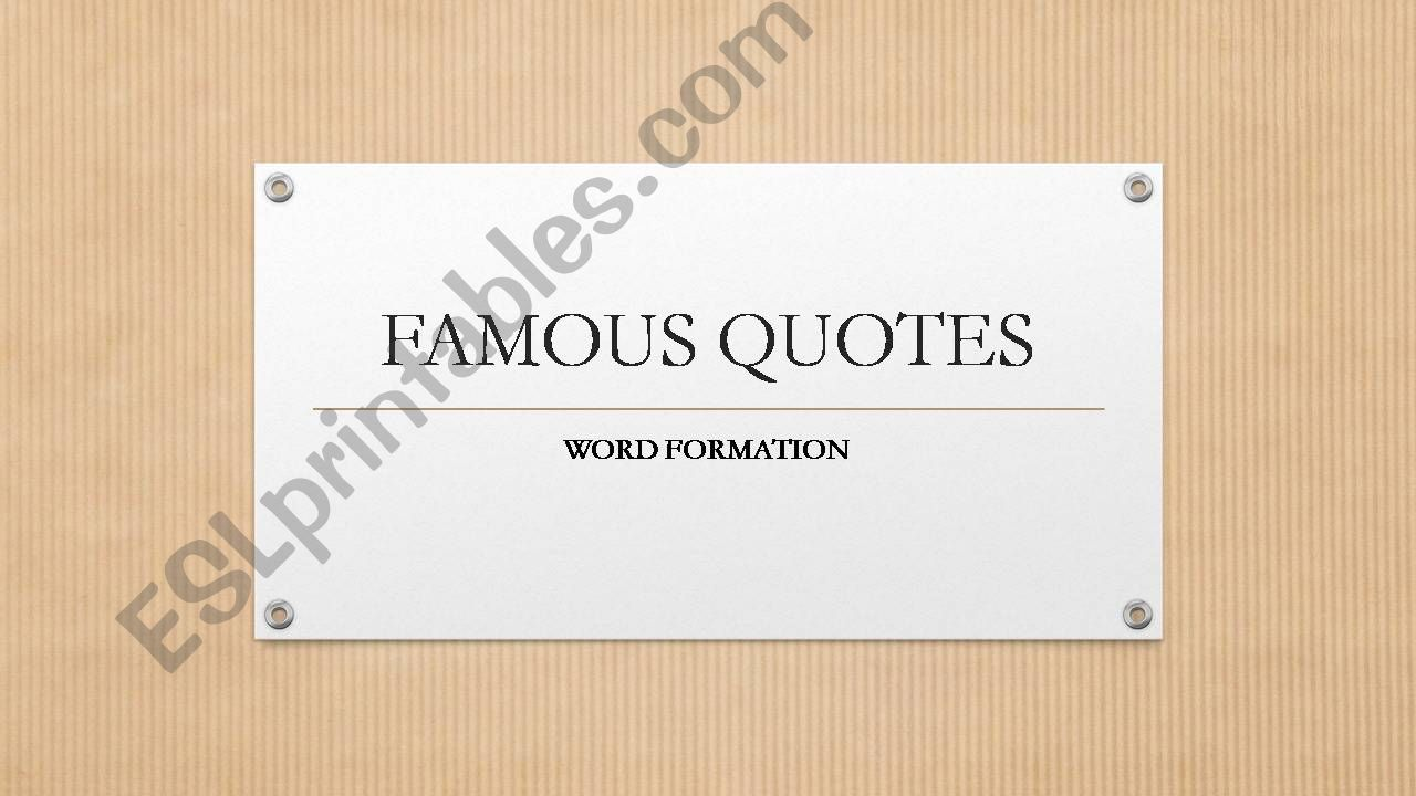 Famous Quotes powerpoint