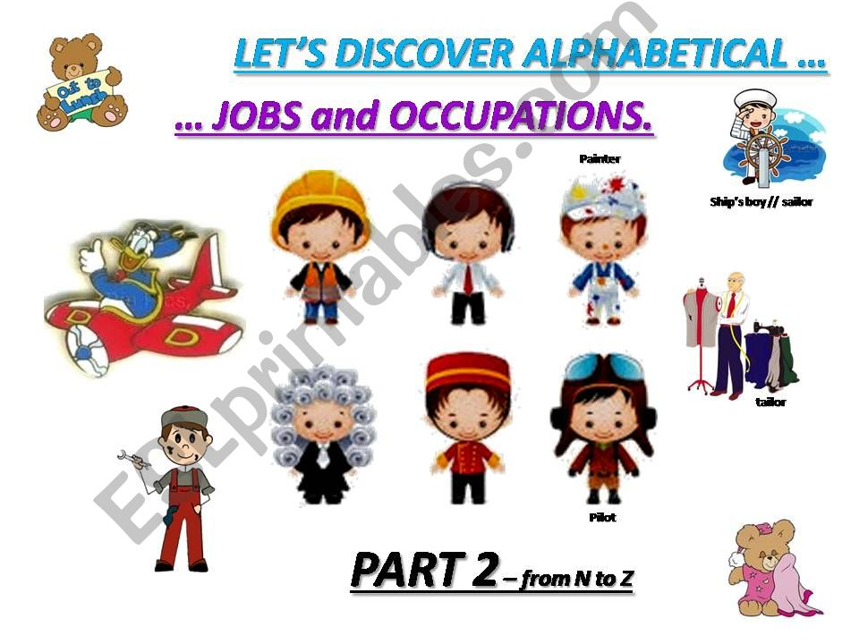 JOBS and OCCUPATIONS : vocabulary and exercises - part 2 From N to Z