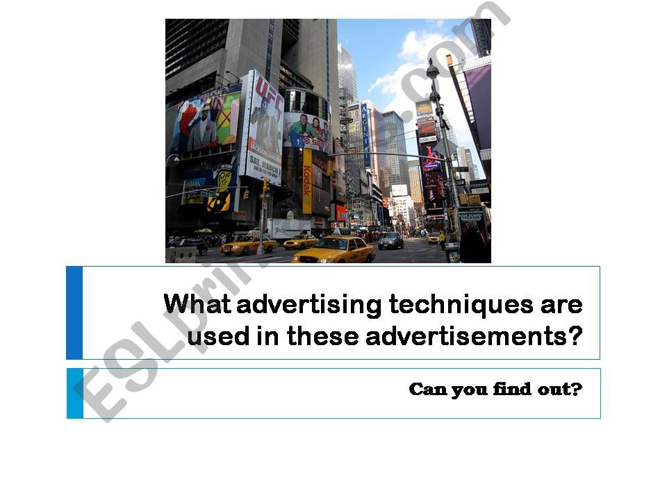 advertising techniques powerpoint