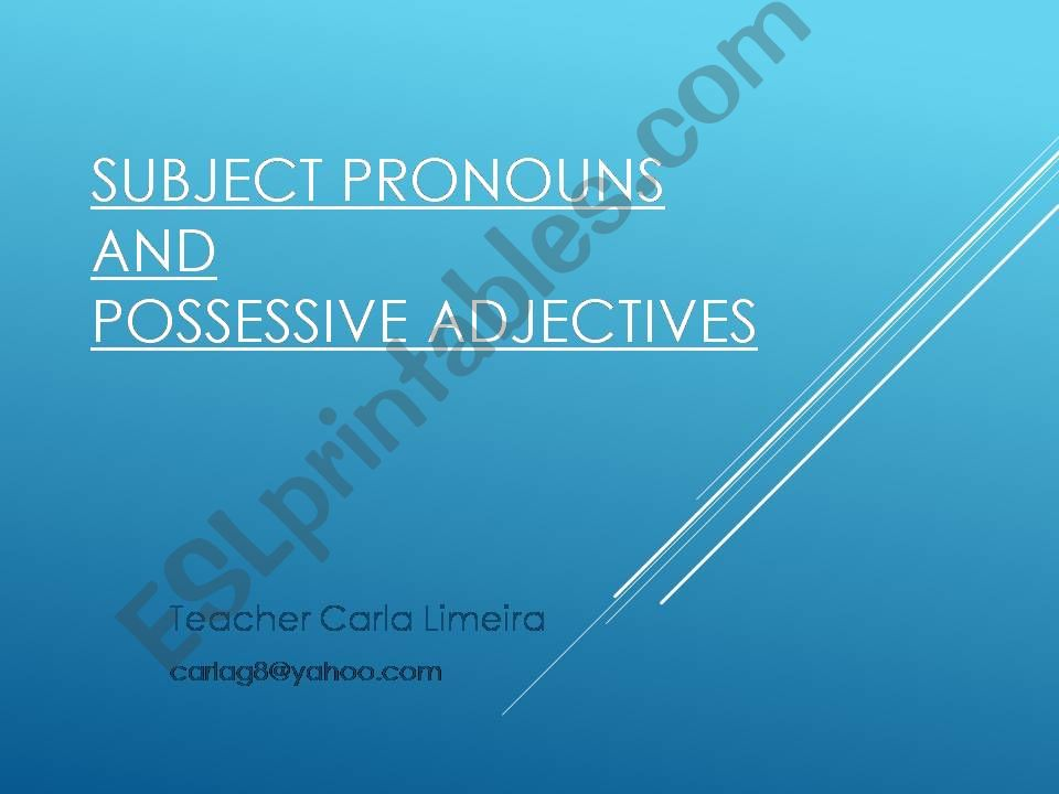 Introducing Pronouns powerpoint