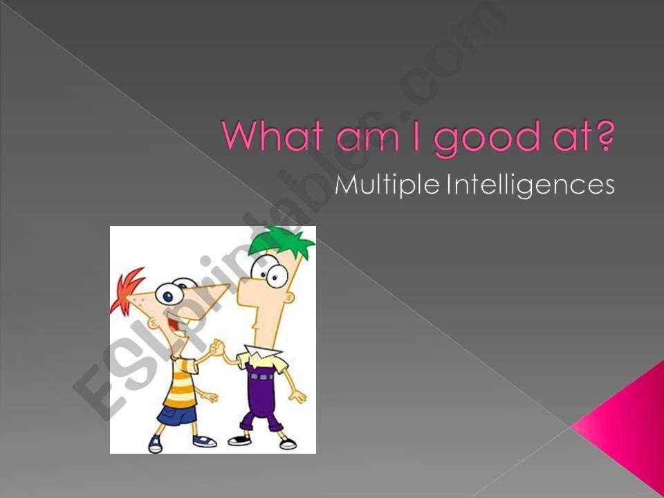 Multiple Intelligences Quiz powerpoint
