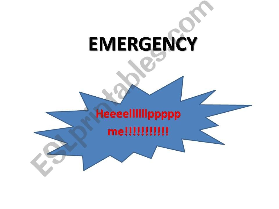 Emergency phrases powerpoint