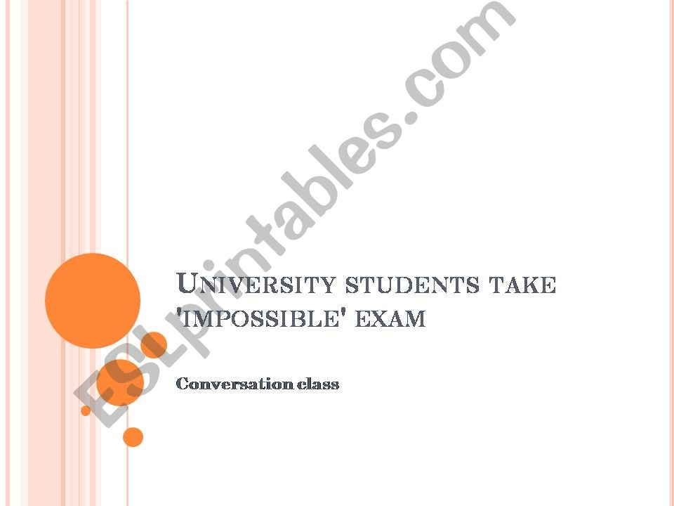 Exams and School  powerpoint