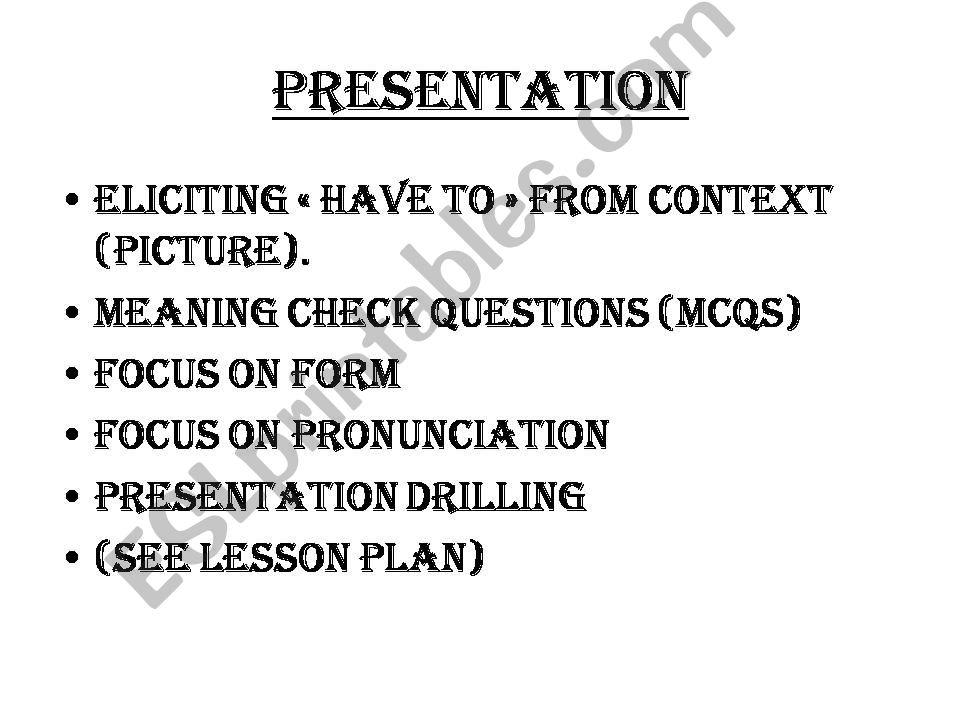 ESL - English PowerPoints: ppu lesson plan sample