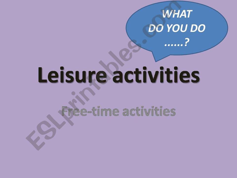 Leisure activities powerpoint