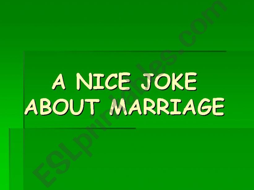 a joke about marriage powerpoint