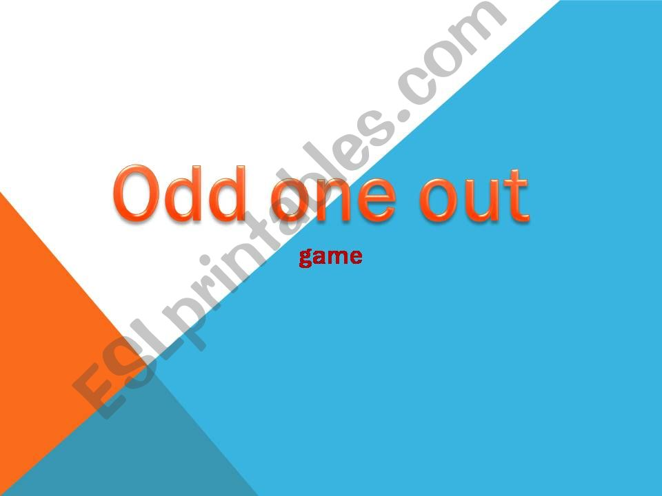 Odd one out game powerpoint