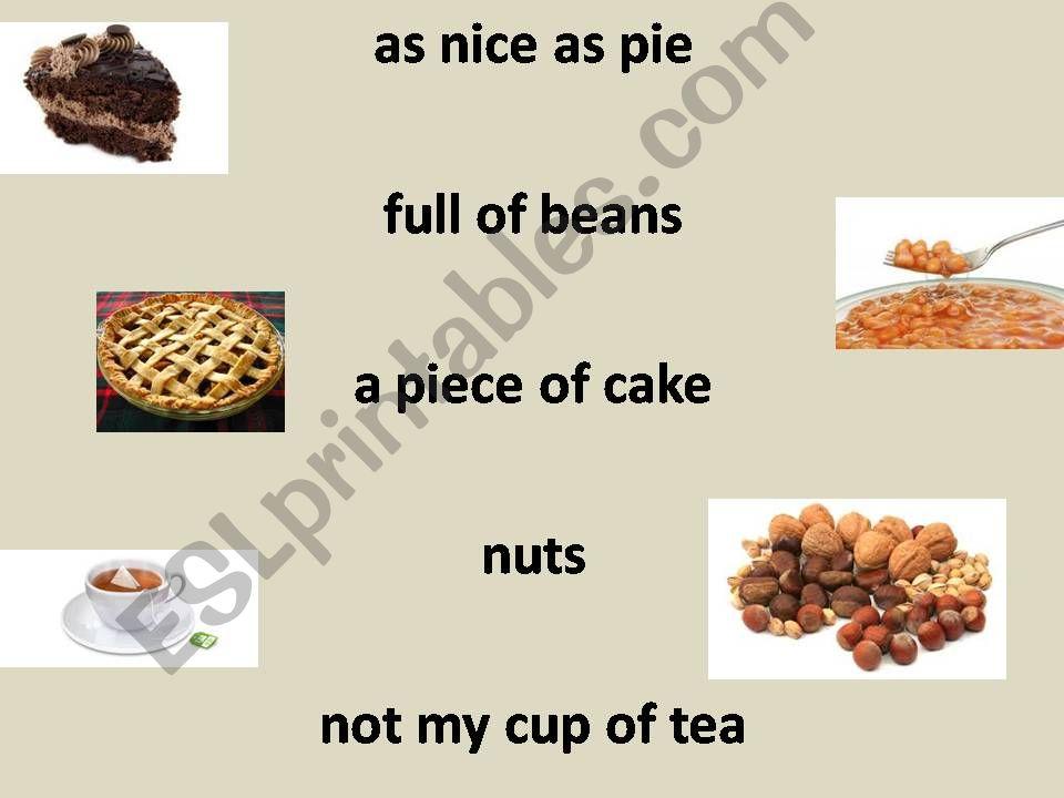 Food sayings powerpoint