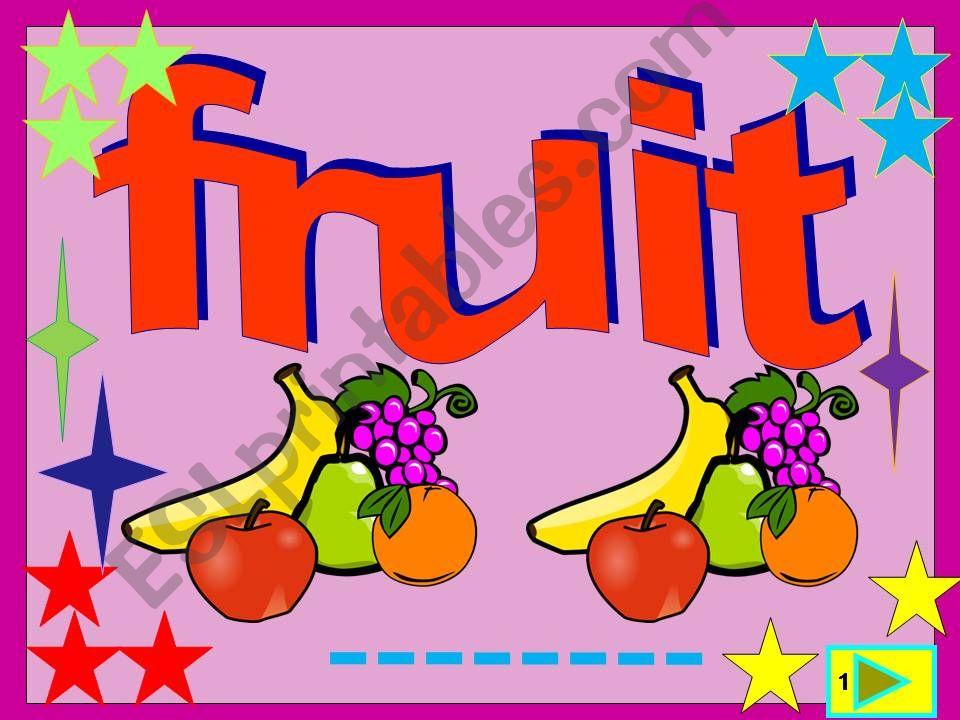 Fruit: multiple choice activity
