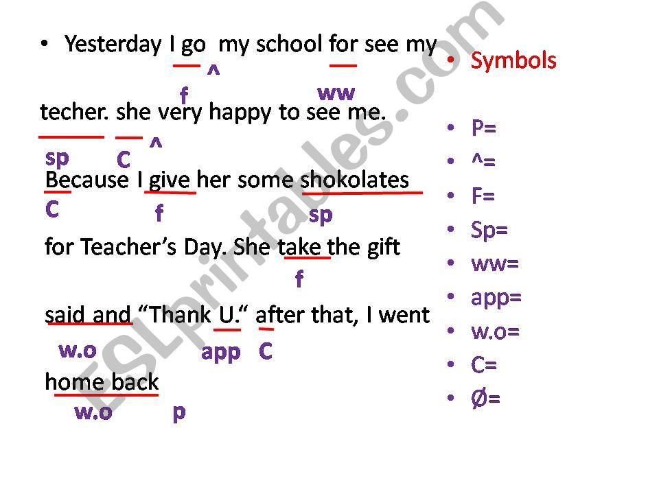 correcting mistakes powerpoint