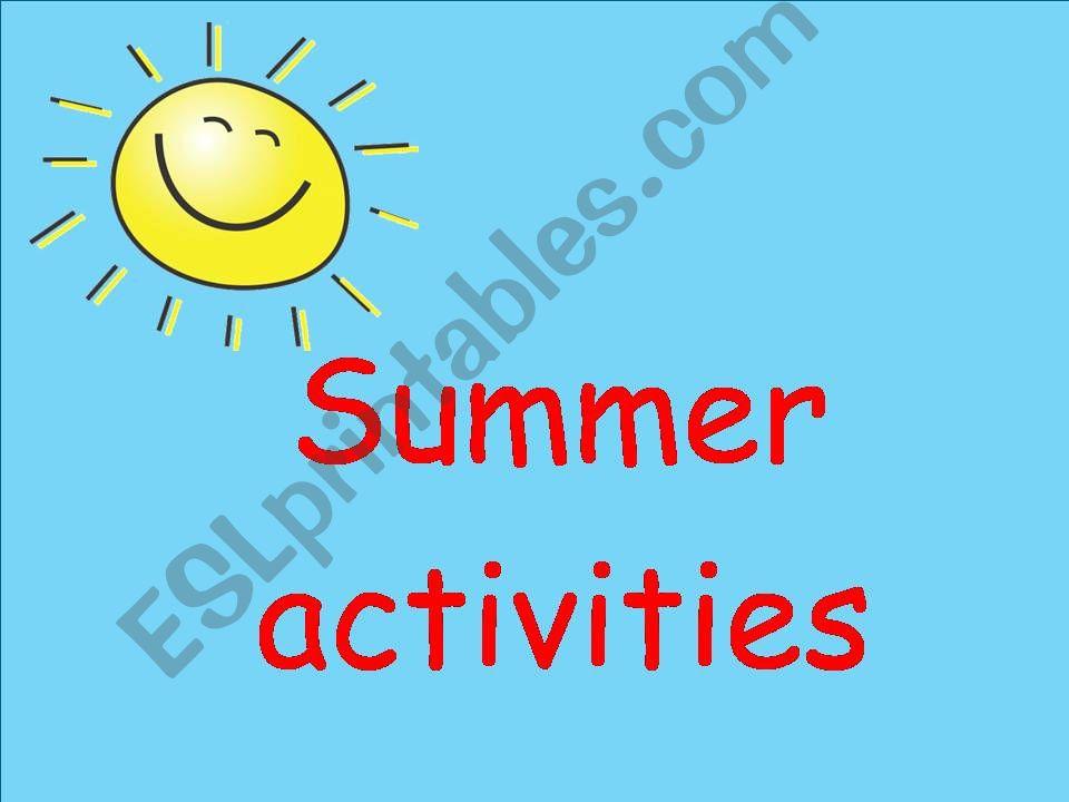 Summer Activities powerpoint