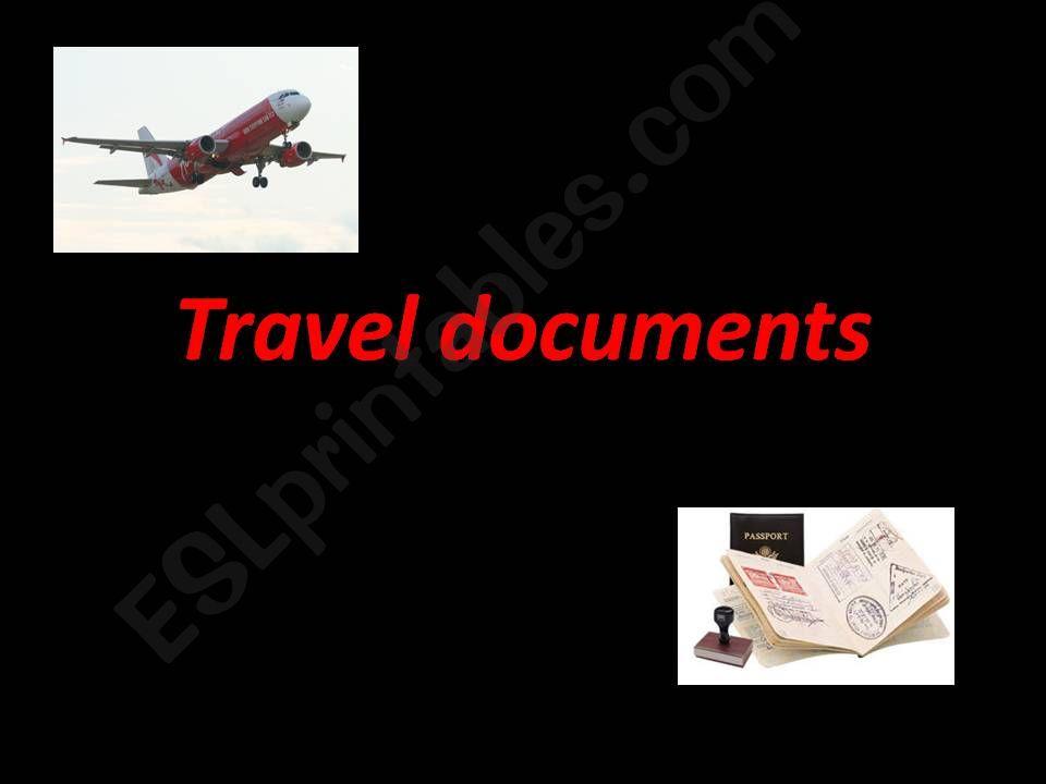 Travel documents powerpoint