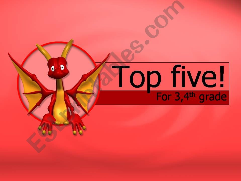 Top five game powerpoint