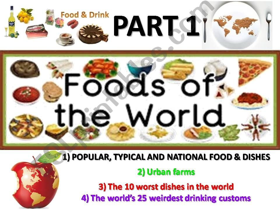 Food and drinks around the world - part 1