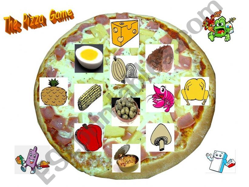 The Pizza Game: Printable set of 20 different layouts.