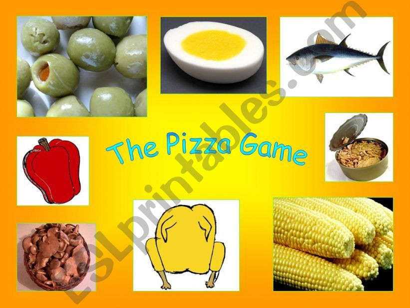The Pizza Game. Printable Animated Flashcards I