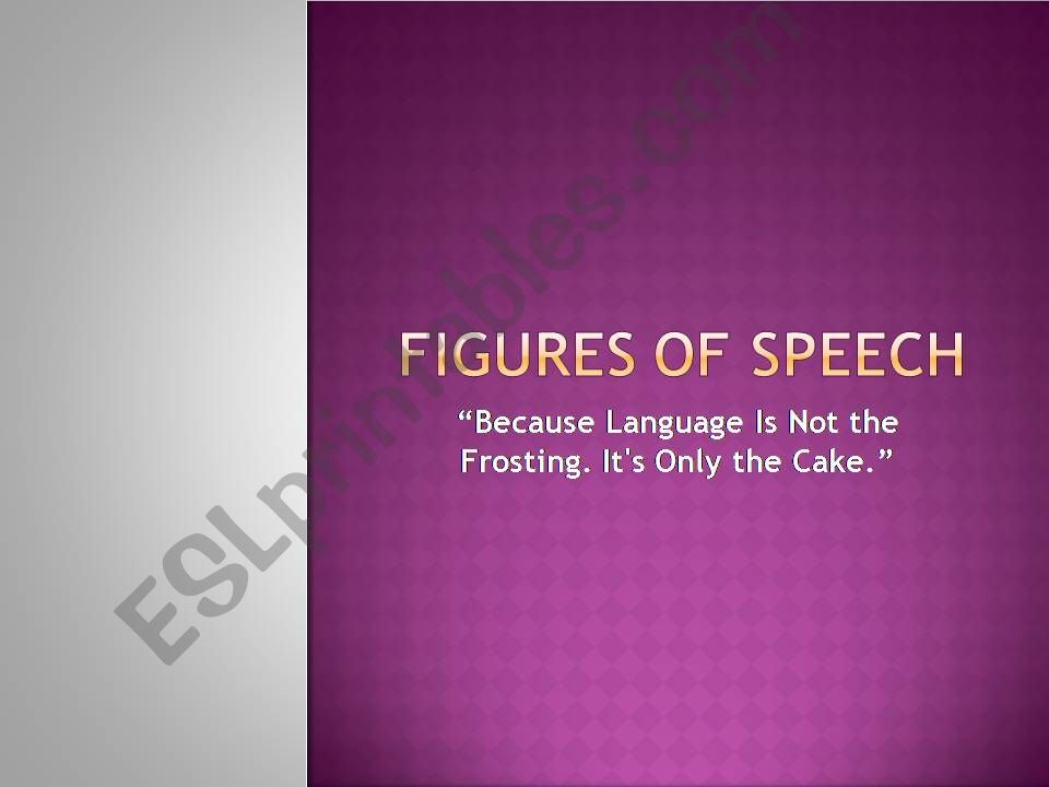 Figures of Speech powerpoint
