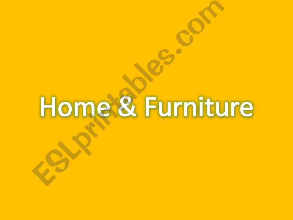 Home & Furniture powerpoint