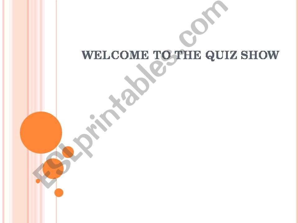 Quiz Show for Your Elementary Students