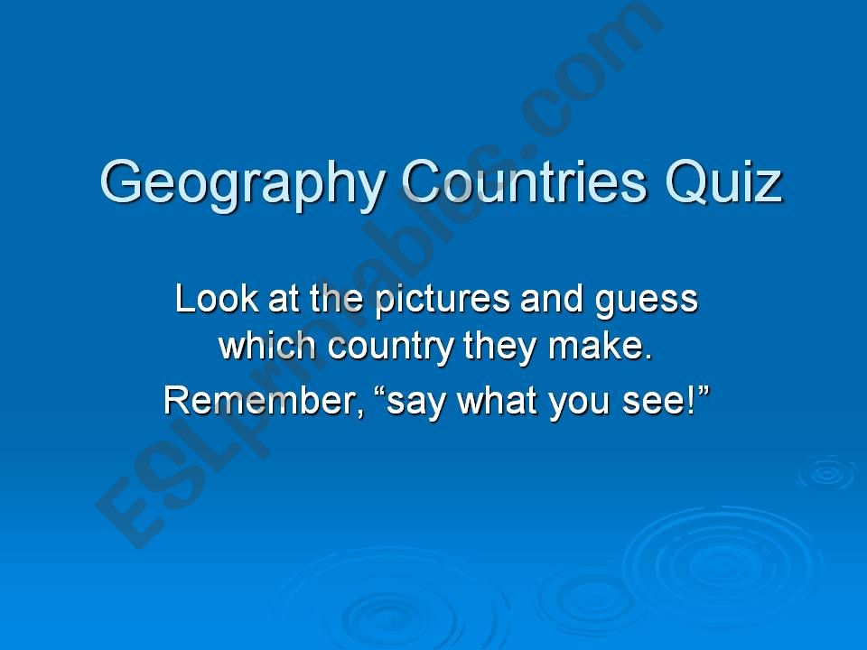 Geography Countries Quiz powerpoint
