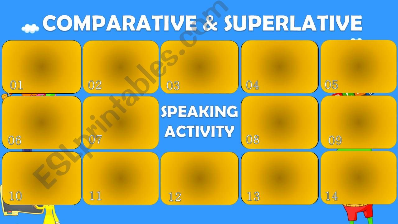 Comparative and Superlative - Speaking Activity
