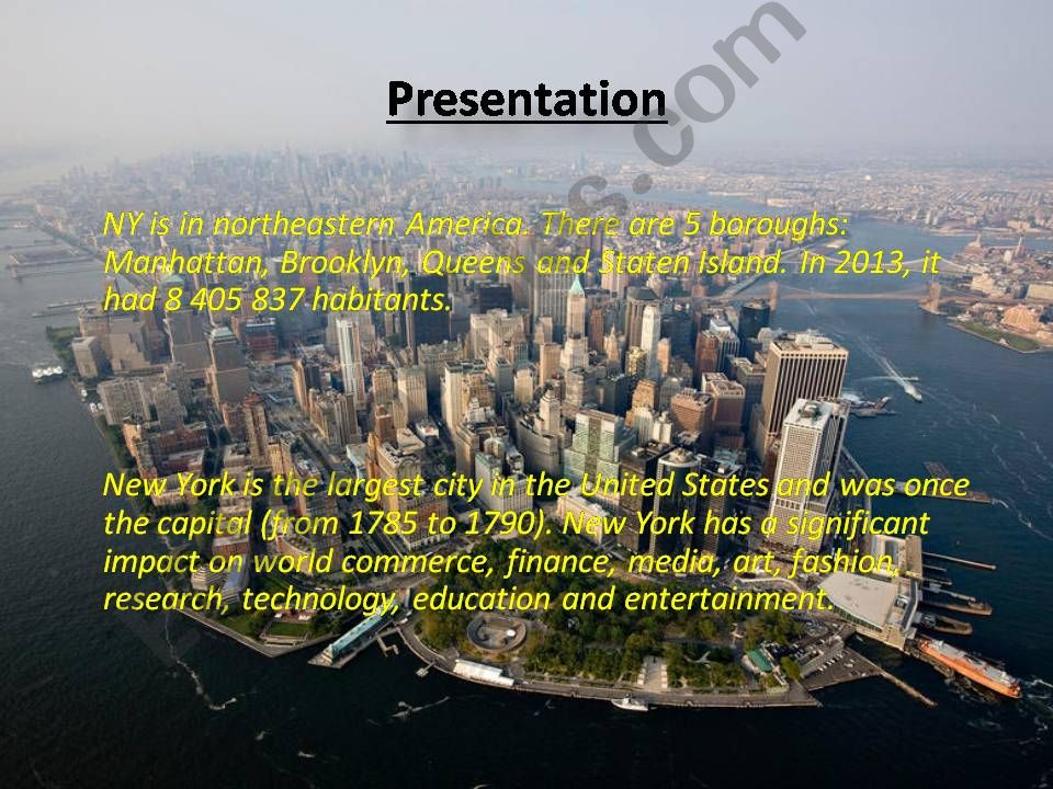 New York - learn all about it powerpoint
