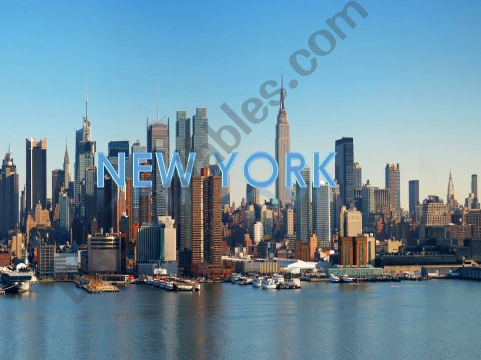 New York info powerpoint