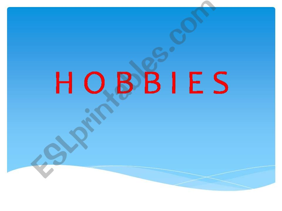 hobbies and talents powerpoint