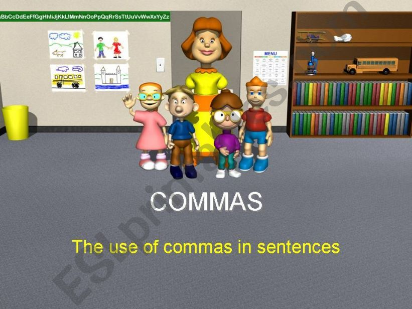 Use of commas in sentences powerpoint