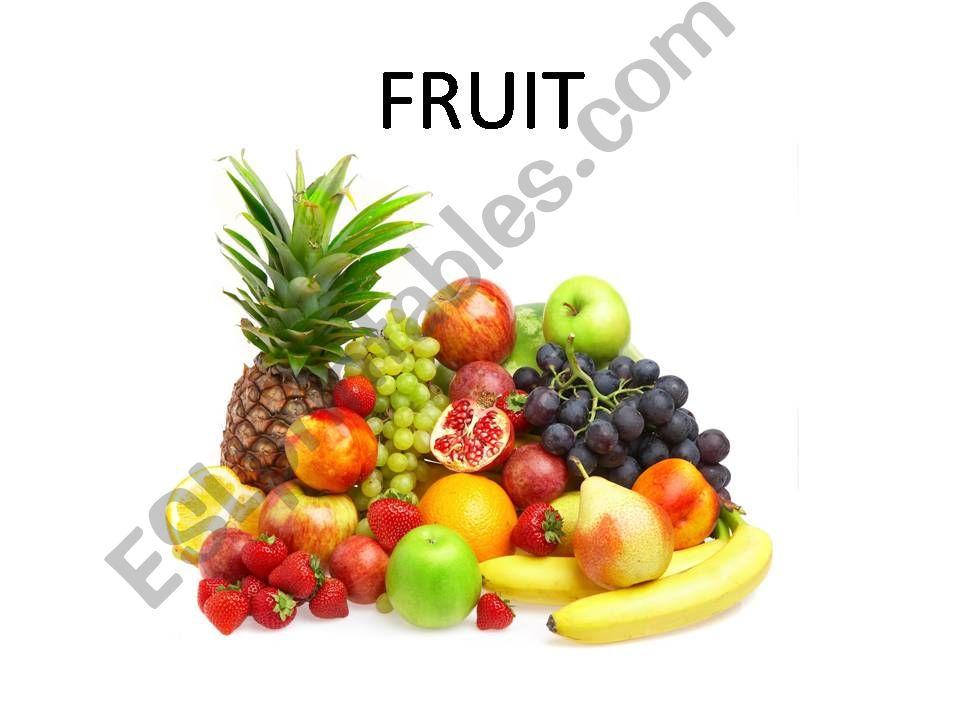 Fruit powerpoint