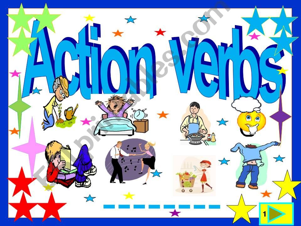 Action verbs :55 slide  quiz powerpoint