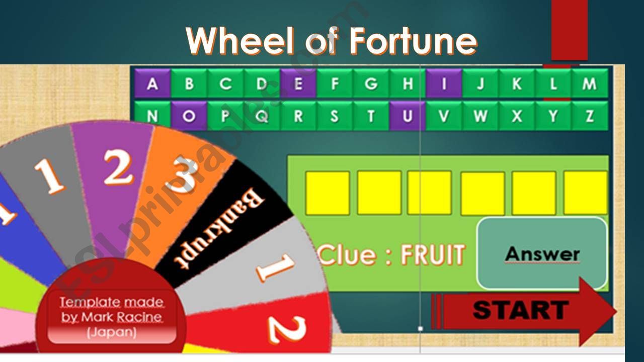 Wheel of Fortune_Guess the Word