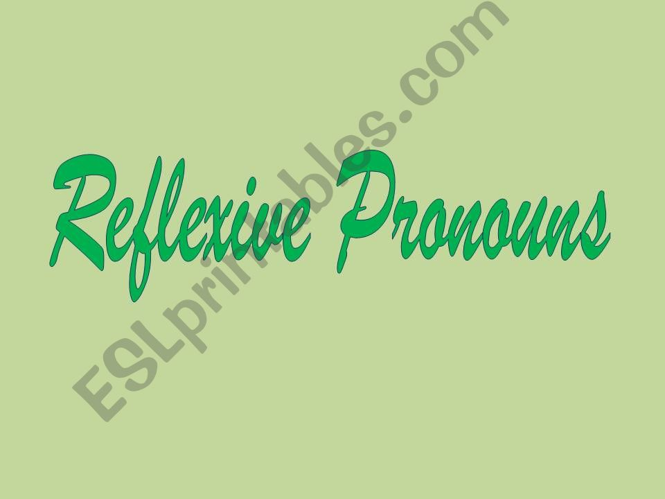 Reflexive pronouns powerpoint