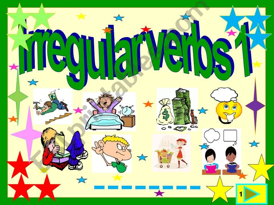 Irregular verbs : 3  form illustrated list