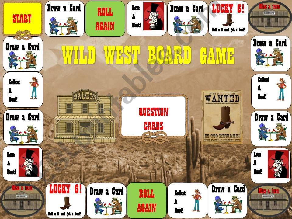 Old West Board Game powerpoint