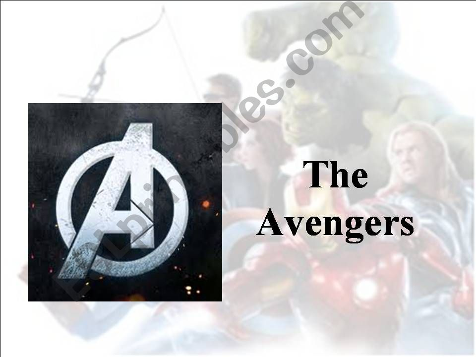 Adjectives with The Avengers powerpoint