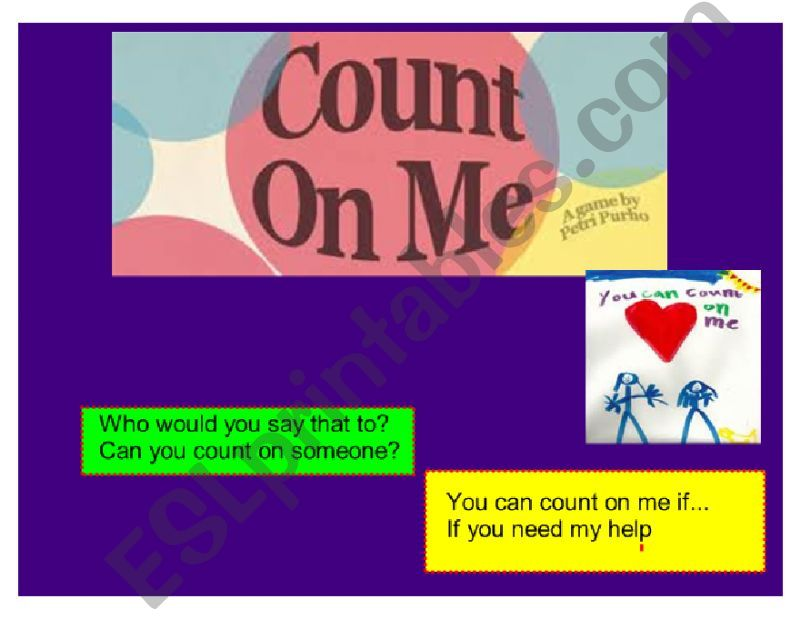 Count on me by Bruno Mars powerpoint