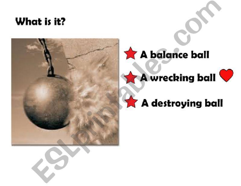 Wrecking Ball powerpoint