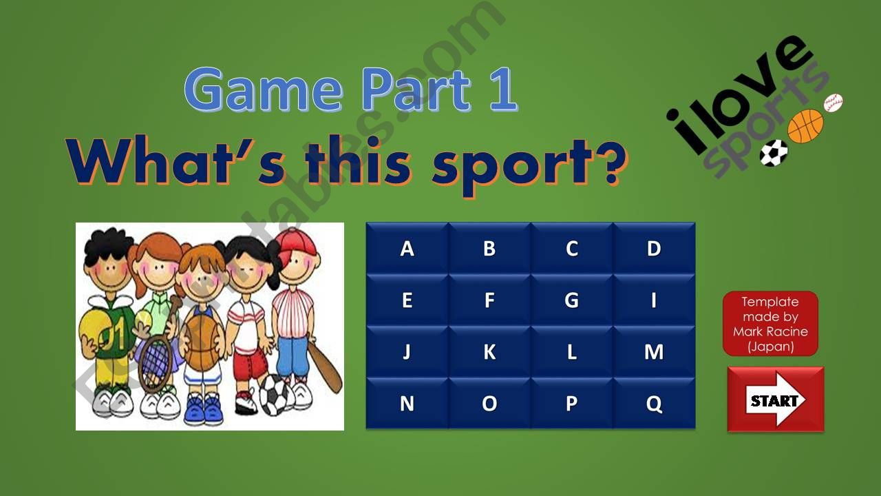 SPORTS by equipment GAME PART 1