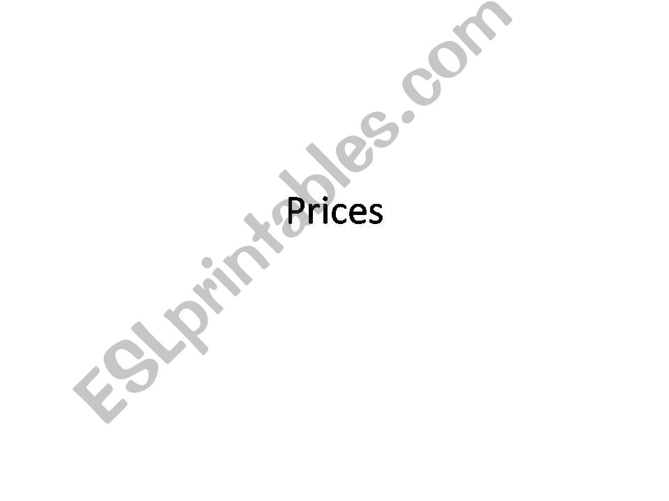 prices powerpoint