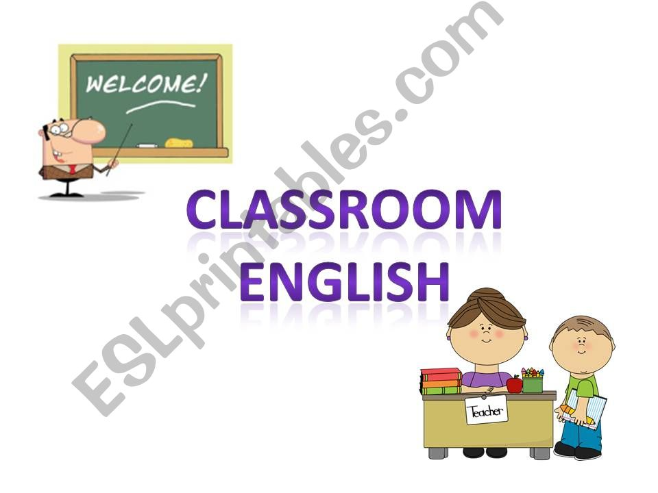 Classroom English - basic instructions