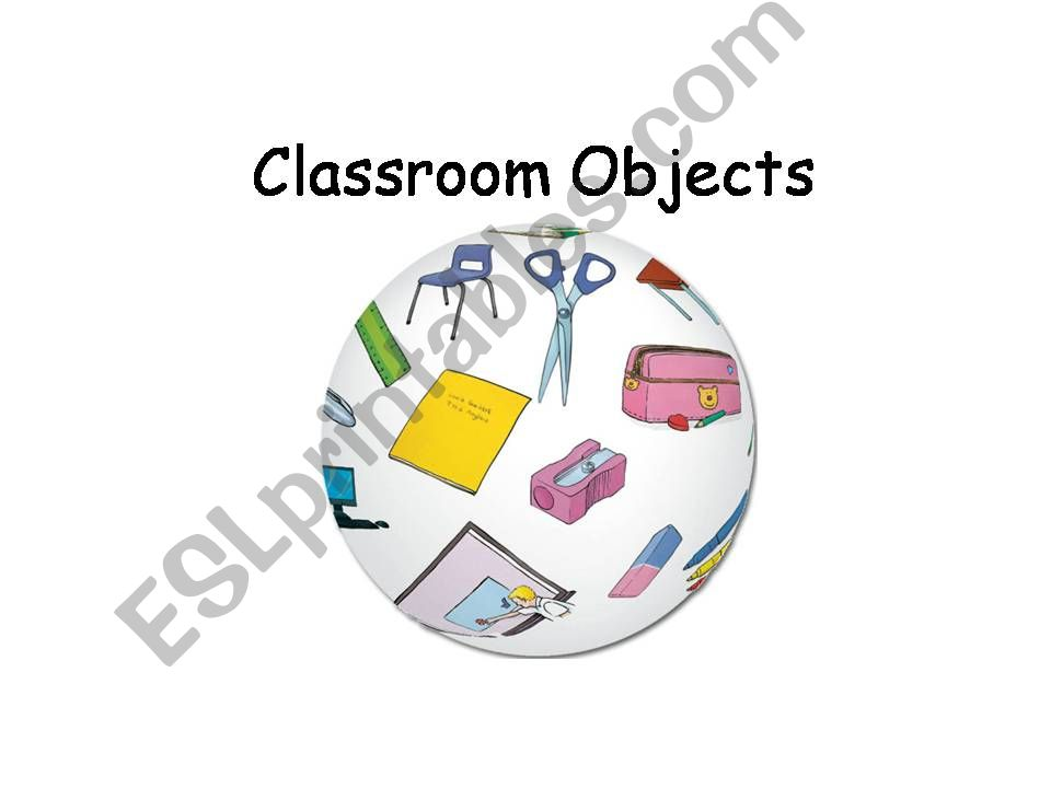 Classroom Objects powerpoint
