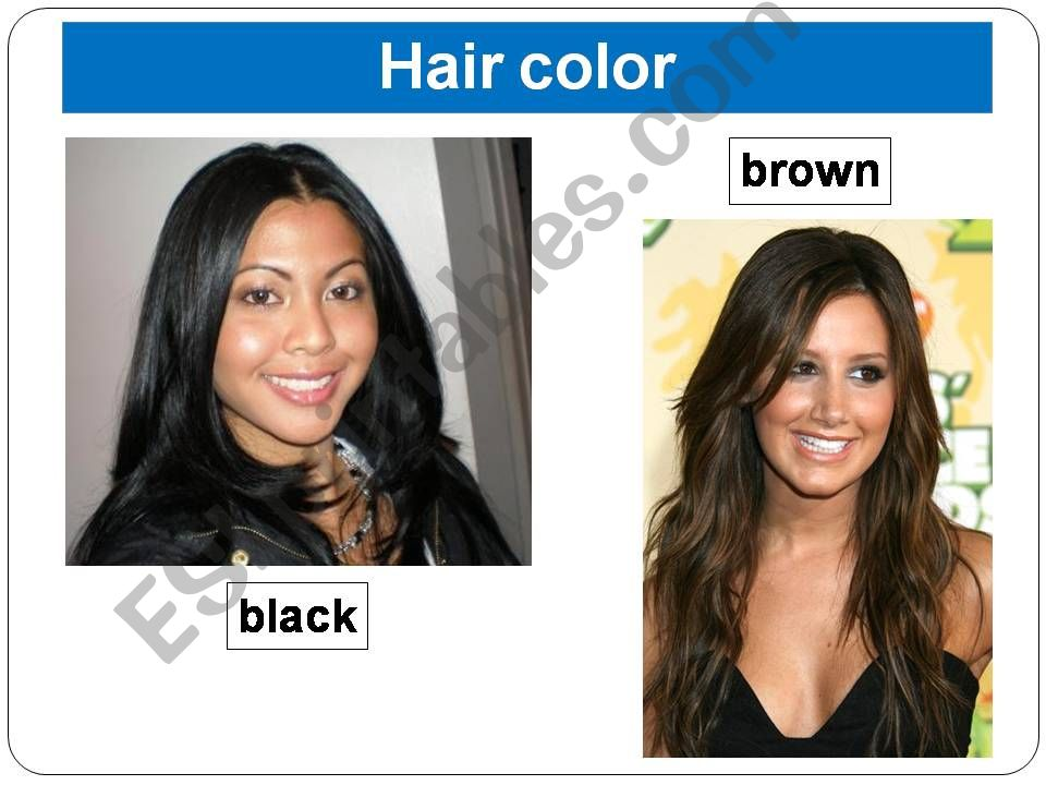 Physical description (hair) powerpoint