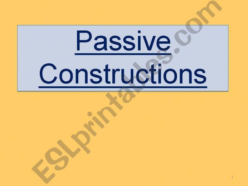 Passive Constructions powerpoint