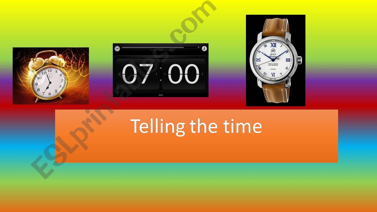 ESL   English PowerPoints Telling the time