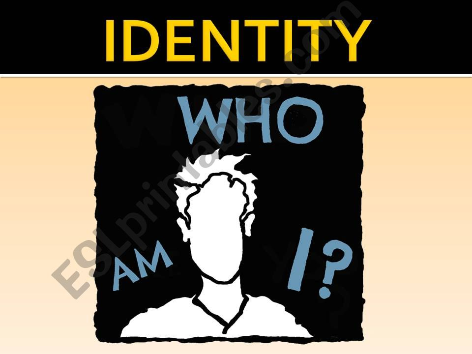 Who am I? powerpoint